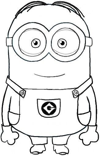Minions da colorare for Disegni dei minions